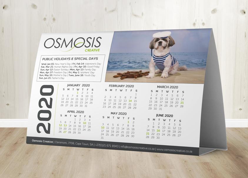 Osmosis Tent Calendar A