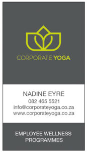 Corporate Yoga business cards