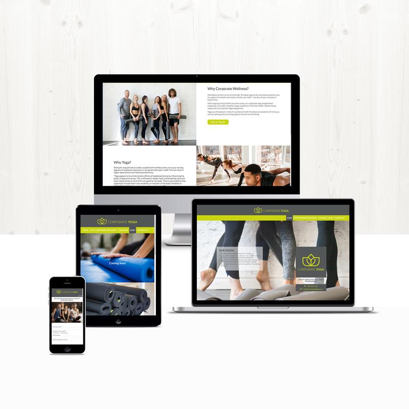 Corporate Yoga site design and development