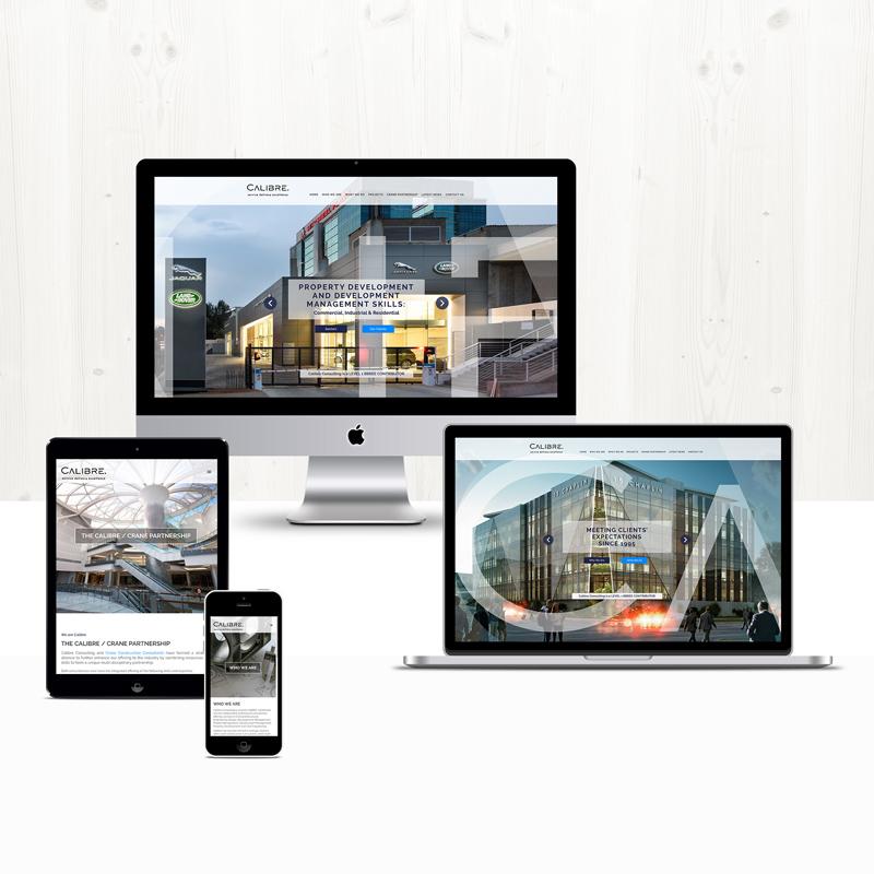 Calibre Consulting site design and development