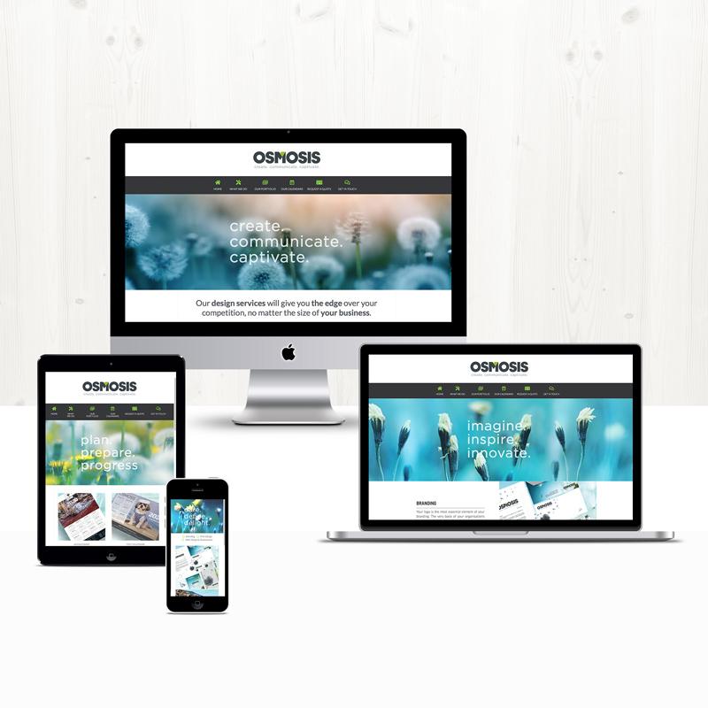 Osmosis Creative site design and development